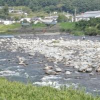 揖保川の鮎釣り